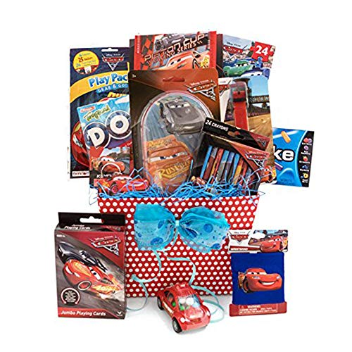 Birthday, Get Well Theme Pixar Gift Baskets Idea for Kids 9 Car Items in 1 Basket ()
