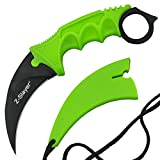 1 X Hawkbill Neck Knife Green