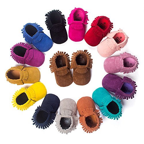 RVROVIC Baby Boys Girls Moccasins Soft Sole Tassels Prewalker Anti-Slip Shoes