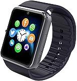 Aosmart Black Bluetooth Touch Screen Smart Wrist Watch Phone Mate with Camera
