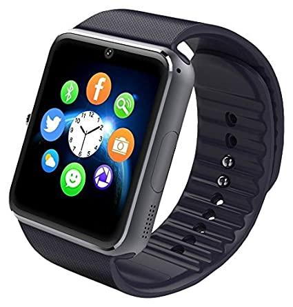 aosmart black bluetooth touch screen smart wrist watch phone mate with camera
