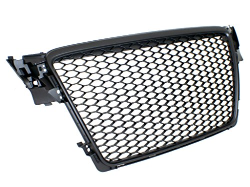 09-12 Audi A4/S4 (B8) RS4 Style Main Upper Euro Mesh Grille - Matte ()