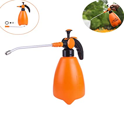 RuiyiF Plant Mister Plastic Flower Spray Water Bottle with Long Nozzle  Watering Can for Indoor Outdoor Plants 52 Oz-Orange