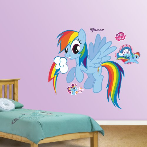 FATHEAD Rainbow Dash Graphic Wall Décor