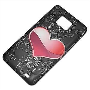 Casino 10001, Corazón, Embossed Caso Carcasa Funda Duro Gel TPU Protección Case Cover, Diseño con Textura en Relieve para Samsung S2 i9100 i9200.