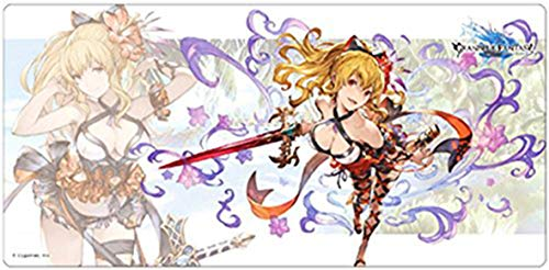 Mats Axia - Granblue Fantasy Vira Swimwear Ver. Trading Card Game Desk Character Rubber Mat Playmat Collection Anime Art