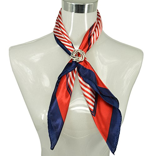 DG Fashion Ladies Elegant Scarf Rings for Scarf,Gift Idea (Wavy Flower-Platinum)