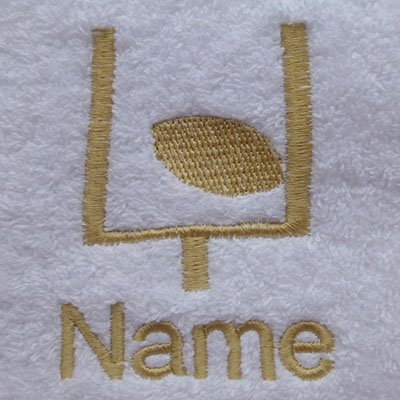 EFY Face Cloth, Hand Towel, Bath Towel or Bath Sheet Personalised with RUGBY logo and name of your choice (Face Cloth 30x30cm)