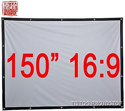Liku técnicas 150 pulgadas 16: 9 de la pantalla de proyección de ...