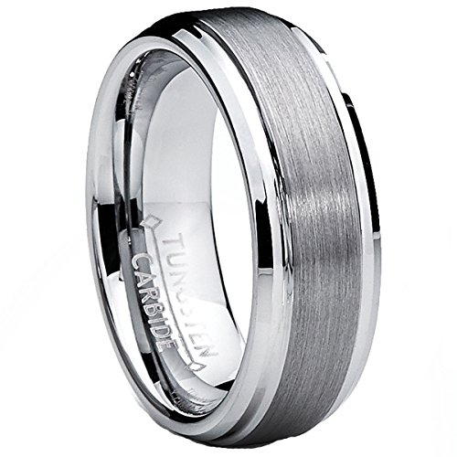 Ultimate Metals Co. 7MM High Polish/Matte Finish Men's Tungsten Ring...