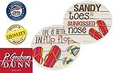 Sandy Toes Sun Kissed Nose Flip Flops 2 Piece