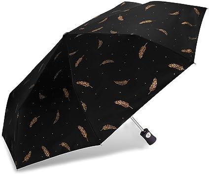 DOENR Colorful Circle Compact Travel Umbrella Sun and Rain Auto Open Close Umbrellas Windproof UV Protection Umbrella