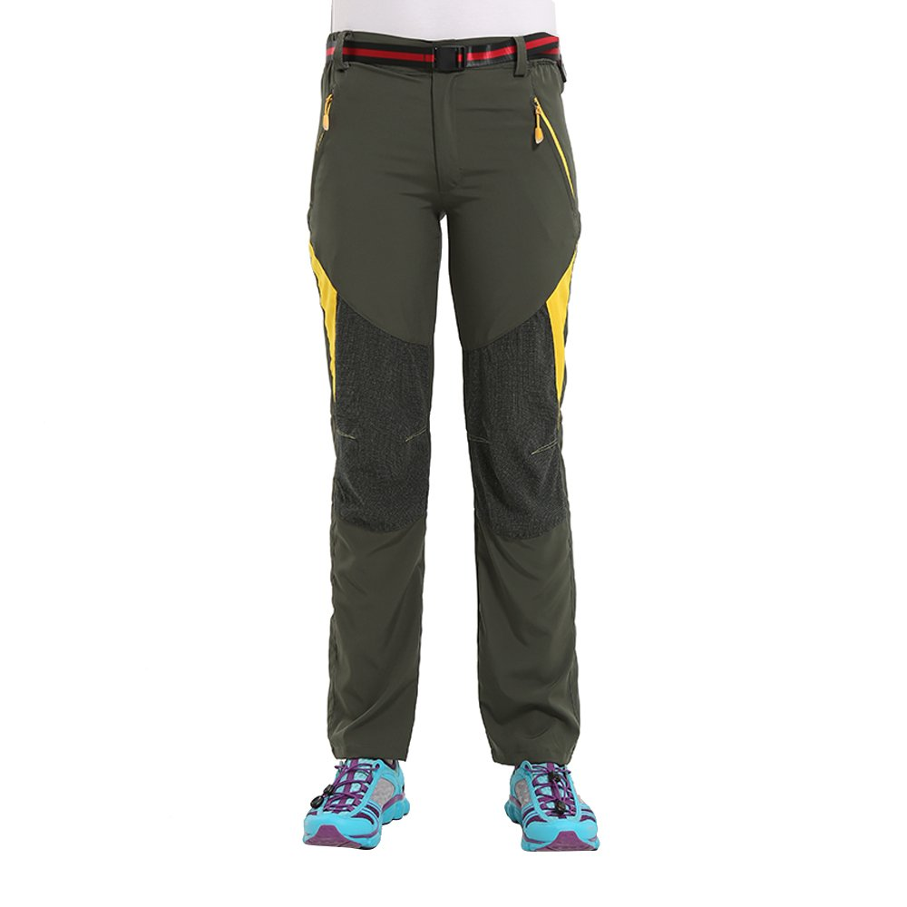 063243d00b Amazon.com : 100% Polyester Moisture Wicking Quick Dry Cargo Pants Outdoor  Sports Hiking Pants : Clothing