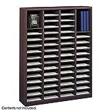 Pemberly Row Mahogany Wood Mail Organizer - 60 Compartments