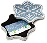 Amazon.com $200 Gift Card in a Snowflake Tin (Happy Holidays Card Design)