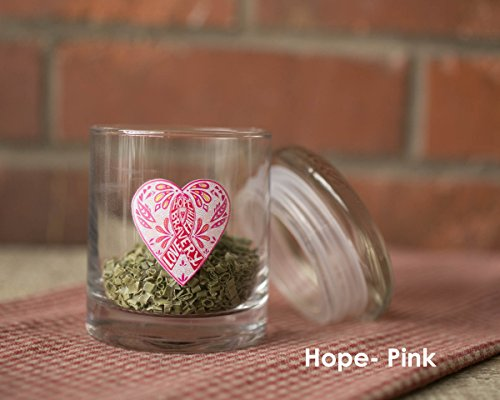 Hope Pink Air Tight Glass Storage Jar (1oz (16oz volume))