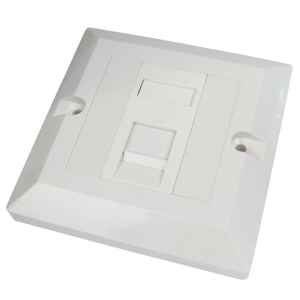 MHP® Single Socket Cat 6 RJ45 Wall Face Plate / LAN Network 1 Port ...
