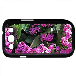 Kalanchoe day photography 21 (Flowers Series) Watercolor style - Case Cover For Samsung Galaxy S3 i9300 (Black)