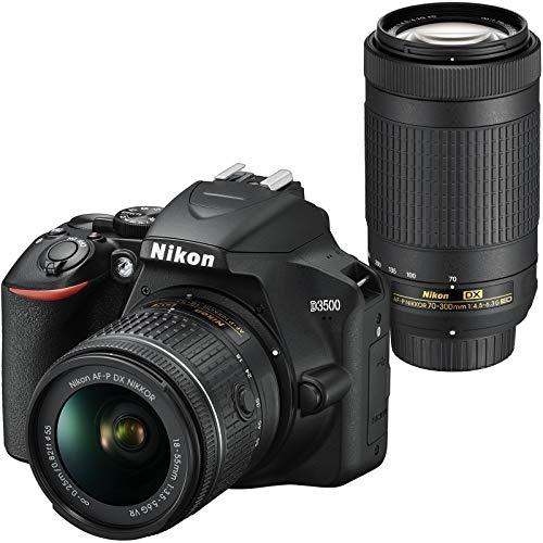 51rkgElFz1L - Nikon D3500 Digital SLR Camera & 18-55mm VR & 70-300mm DX AF-P Lenses with Case + Tripod + Filters + Kit