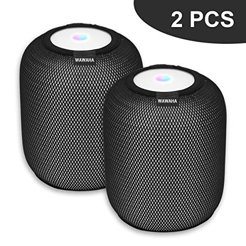 WAWAHA 2pcs Homepod Cover,Elastic Anti-Scratch Dust Proof Protective Cover for Speaker HomePod Accessories (Dacron Line)