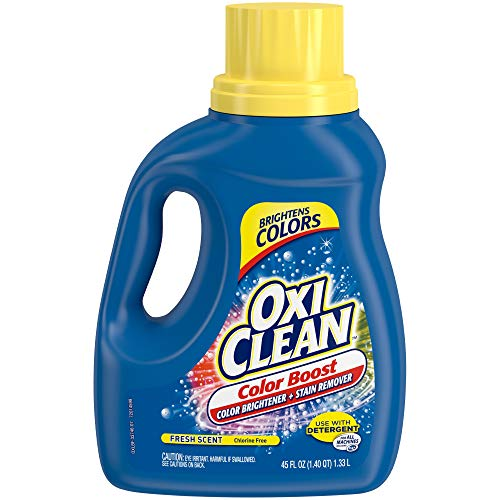 OxiClean 2in1 Free Liquid Stain Fighter with Color Safe Brightener, 45 oz. (Best Way To Whiten Grout On Tiles)