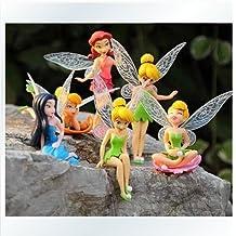Anime Cartoon Tinkerbell Fairy PVC Action Figure Toys Girls Dolls Gift 6pcs/set