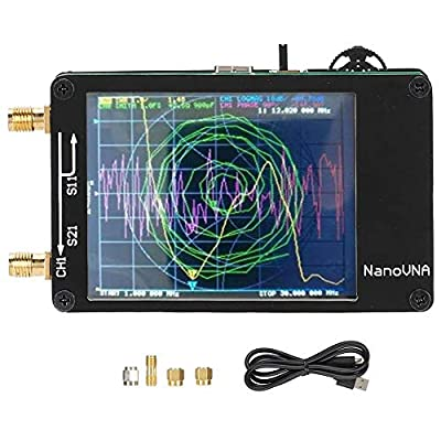 Bewinner Vector Network Analyzer Kit, 2.8-inch Digital Touch Screen NanoVNA Host Portable Handheld Vector Network Supports The Odd Harmonic Expansion of The si5351