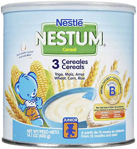 Nestum Toddler Cereal - 3 Cereals - 14.1 oz by Nestum