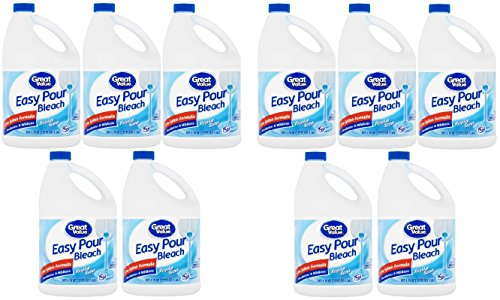 Great Value Easy Pour Bleach, Regular Scent, 121 fl oz - Pack of 10 by Great Value (Image #6)