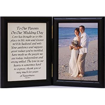 Amazon.com - 5x7 Hinged TO OUR PARENTS ON OUR WEDDING DAY Poem ...
