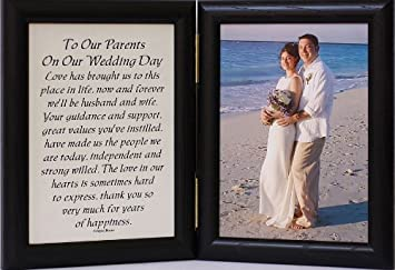 Amazoncom 5x7 Hinged To Our Parents On Our Wedding Day Poem
