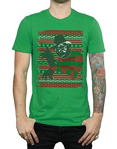 Christmas Irlandais Homme On Street Vert Elm T Nightmare Fair Isle shirt vIBgqxHWR