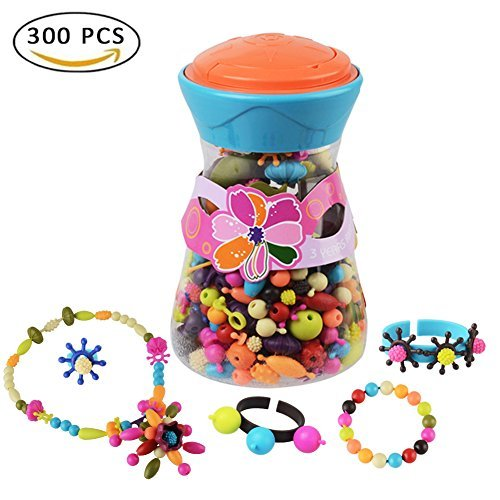 Bfoel Pop Snap Beads Set Creative Diy Jewelry Making Kit For Necklace Ring And Bracelet For Ages 3 And Up 300 Pcs