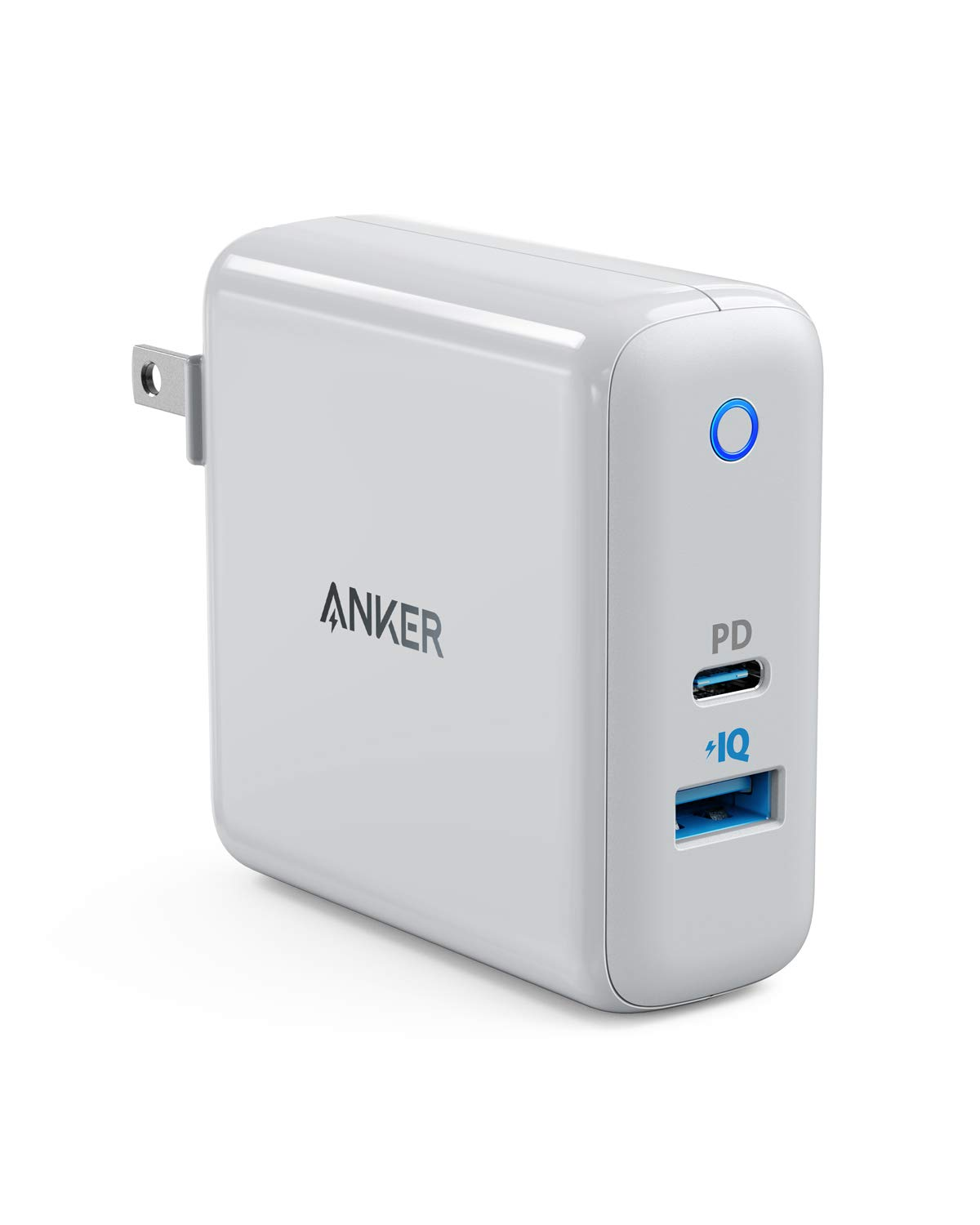 Anker USB C Charger, PowerPort Speed+ Duo Wall Charger with 30W Power Delivery Port for iPhone Xs/Max/XR/X/8, iPad Air 2/Mini, MacBook Pro/Air 2018, Galaxy S9/S8, LG, Nexus, Pixel, and More AK-A26221D1