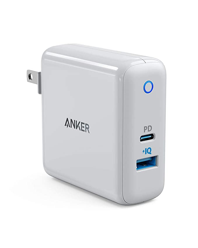 Anker PowerPort Speed+ Duo(PD対応 42W 2ポート USB-A & USB-C 急速充電器)【PSE認証済 / Power Delivery対応 / PowerIQ搭載 / コンパクトサイズ】iPhone 11 / 11 Pro / 11 Pro Max / XR / 8、Galaxy S10 / S10+、iPad Pro、MacBook Air、その他対応
