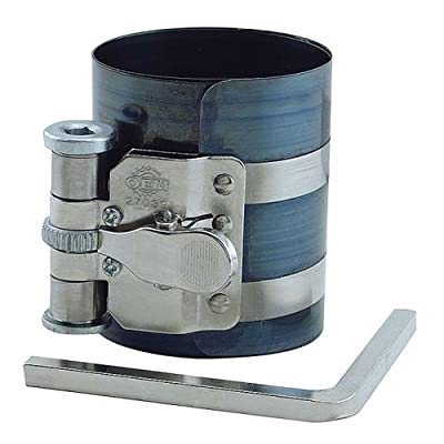 OEMTOOLS 27039 Piston Ring Compressor, Range: 2-1/8 Inch to 5 Inch (54 mm to 127 mm) | Remove and Replace Pistons | High Grade Spring Steel | Comes with Adjuster Wrench: Home Improvement