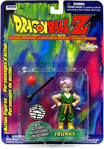 Dragonball Z Irwin Series 10 Action Figure Trunks with Accessories