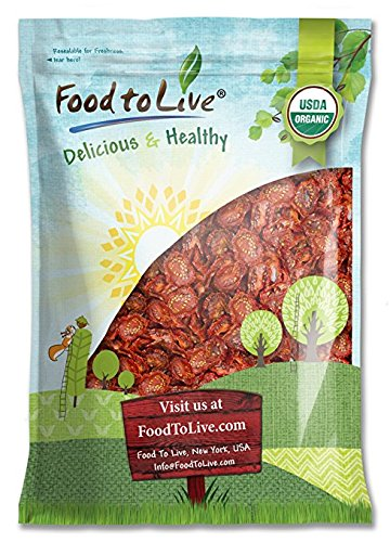 Organic Sun-Dried Tomatoes (Salted, Non-GMO, Kosher, Unsulfured, Bulk, Food to Live) (5 Pounds)
