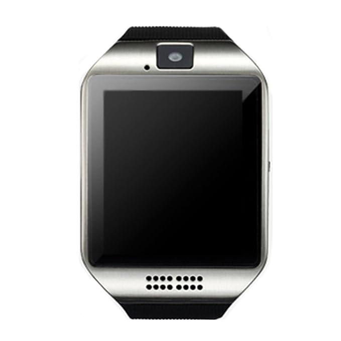 Q18 Smart reloj teléfono móvil, Bluetooth SmartWatch con cámara y pantalla táctil Sim TF tarjeta anti-lost sincronización de mensaje relojes de ...
