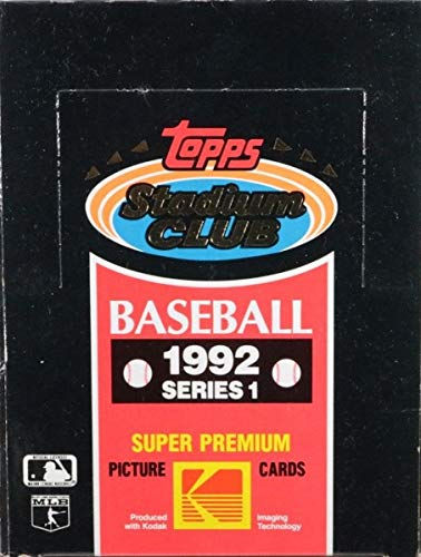 1992 Topps Stadium Club Baseball Series 1 MLB Baseball HOBBY box ()