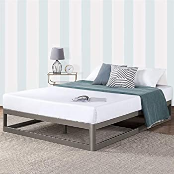 Amazon Com Mellow Queen 12 Quot Metal Platform Bed Frame W