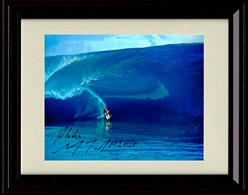 Framed Laird Hamilton Autograph Replica Print - Big Wave Surfing! by Framed Print - Misc