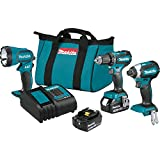 Makita XT335S 18V LXT Lithium-Ion Brushless Cordless 3-Pc. Combo Kit (3.0Ah)