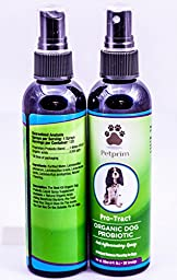 SALE...Probably The Best Organic Dog Probiotic Spray Supplement Available + Natural Organic Acids Aids Beneficial Bacteria. PRO-TRACT Gives Your Dog A Glow On The Inside, You Can See On the Outside
