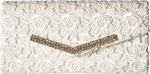 Jessica Lace Wedding Dress - Jessica McClintock Ashley Lace Envelope Clutch, Ivory