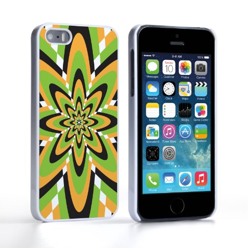 Caseflex Coque iPhone 5 / 5S Etui Vert / Jaune Rétro Fleur Motif Dur Housse