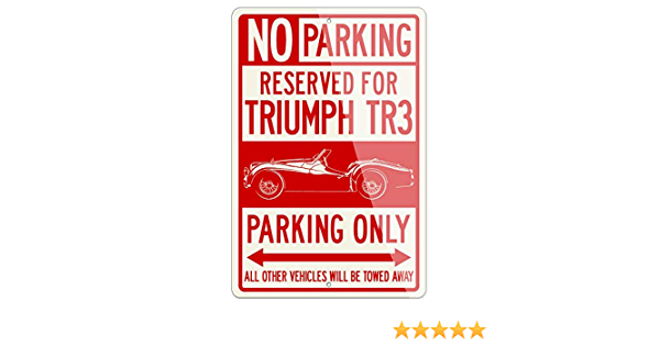 VINTAGE METAL GARAGE MANCAVE SIGN Triumph Tr3 18 x 12