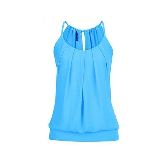 Lenfesh Camisetas Mujer Moda Chaleco Atractivo Verano Crop Cami Camisetas sin Mangas Blusa Talla Extra para Mujer: Amazon.es: Ropa y accesorios