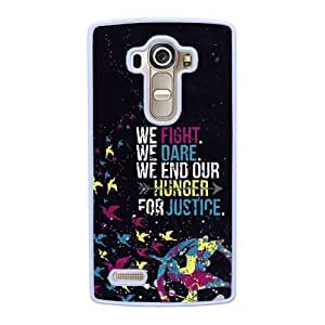 Grouden R Create and Design Phone Case,The hunger games mockingjay Cell Phone Case for LG G4 White + 1*Touch Stylus Pen (Free) GHL-2877184