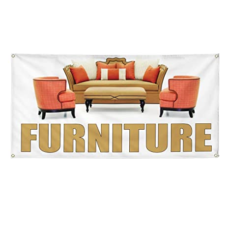 Amazon.com : Vinyl Banner Sign Furniture #1 Style B Retail ...